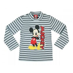 Disney Mickey csíkos hosszú ujjú póló (méret: 74-116)
