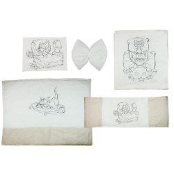 Tom & Jerry 4 részes baba ágynemű garnitúra