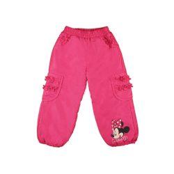 Disney Minnie zsebeknél fodros bélelt baba  gyerek vízlepergetős nadrág (méret:80-122)