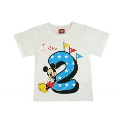 Disney Mickey szülinapos kisfiú póló 2 éves