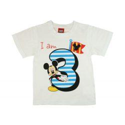 Disney Mickey szülinapos kisfiú póló 3 éves