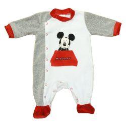 Disney Mickey hosszú ujjú plüss rugdalózó (méret:56-62)