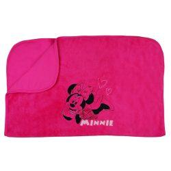 Disney Minnie mintás hímzett wellsoft/pamut babatakaró (méret: 75x100)
