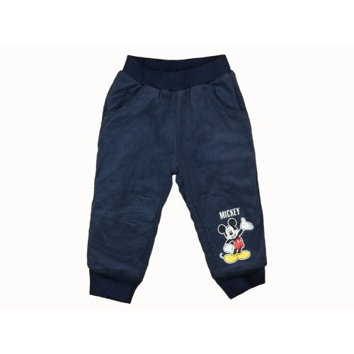 Disney Mickey baba/gyerek bélelt kord nadrág (méret: 80-116)