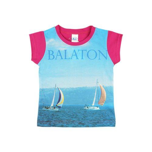 Balaton rövid ujjú lányka póló (méret: 92-158)
