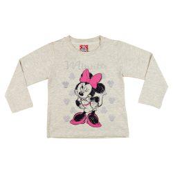 Disney Minnie hosszú ujjú lányka póló (méret: 92-122)