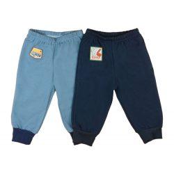 Baba/gyerek belül bolyhos szabadidő nadrág párban (méret: 74-116)