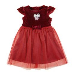 Disney Minnie rövid ujjú| tüllös bársony ruha (méret: 74-116)