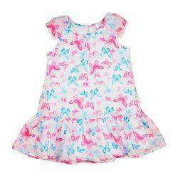 Pillangó mintás muszlin lányka nyári ruha