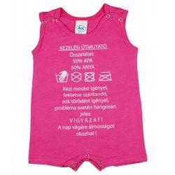 Feliratos bébi ujjatlan napozó| Kezelési útmutató