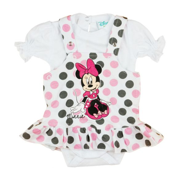 Disney Minnie 2 részes, kantáros szoknyás baba szett Gyere
