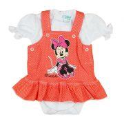 Disney Minnie 2 részes  kantáros szoknyás baba szett