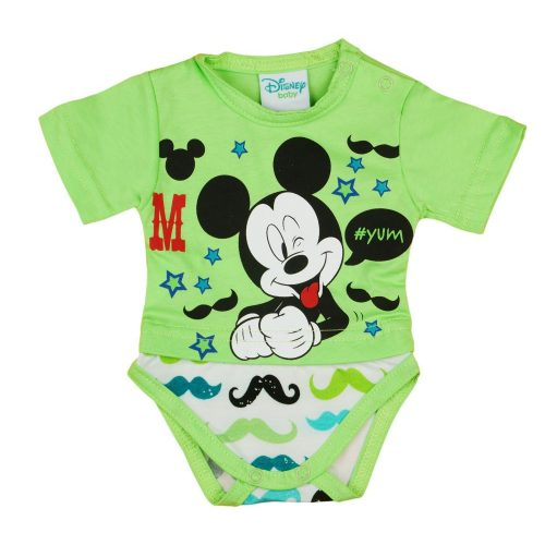 Disney Mickey rövid ujjú kombidressz Bajusz zöld