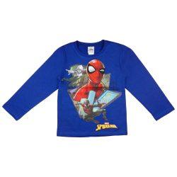 Pókember mintás fiú hosszú ujjú póló