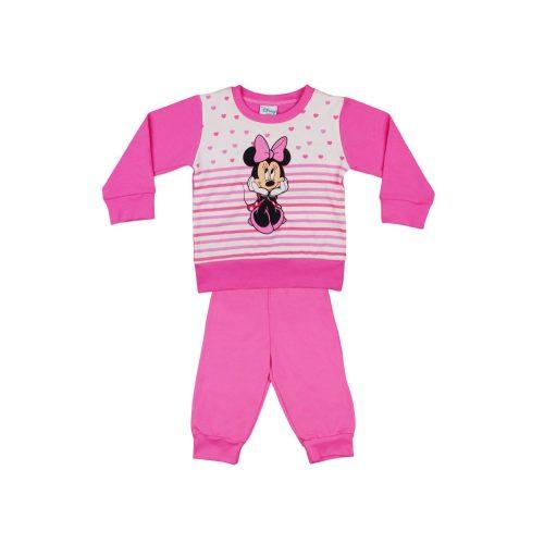 Disney Minnie lányka pizsama szíves  csíkos