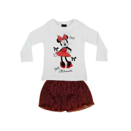 Disney Minnie 2 részes hosszú ujjú póló/szoknya szett