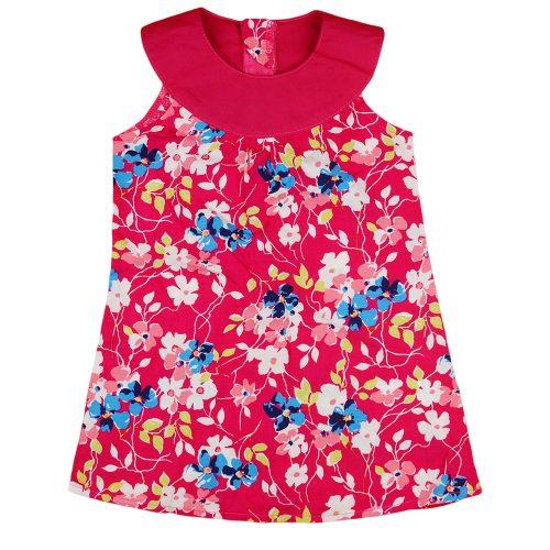 Virág mintás ujjatlan lányka ruha