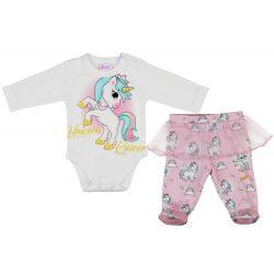 Unicorn Queen Unikornis lányka bébi 2 részes nadrág/body szett