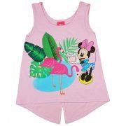 Disney Minnie flamingós  csillámos kislány nyári top