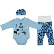 Disney Mickey 3 részes (sapka+nadrág+body) szett Hello Boy!