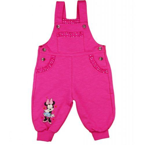 Disney Minnie mintás baba pamut kertésznadrág