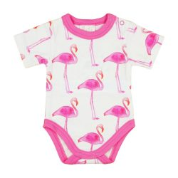 Flamingó mintás lány gyerek body (kombidressz)