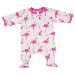 Flamingó mintás lányka pamut rugdalózó