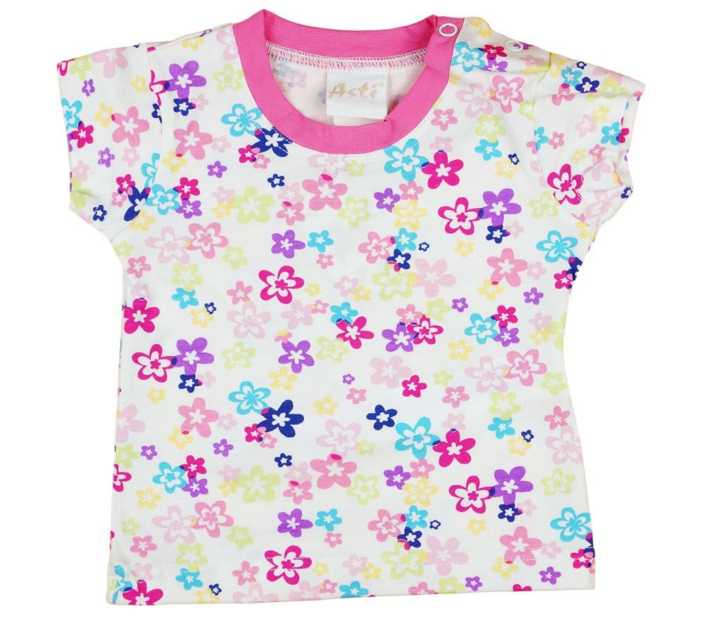 Virág mintás baba rövid ujjú póló