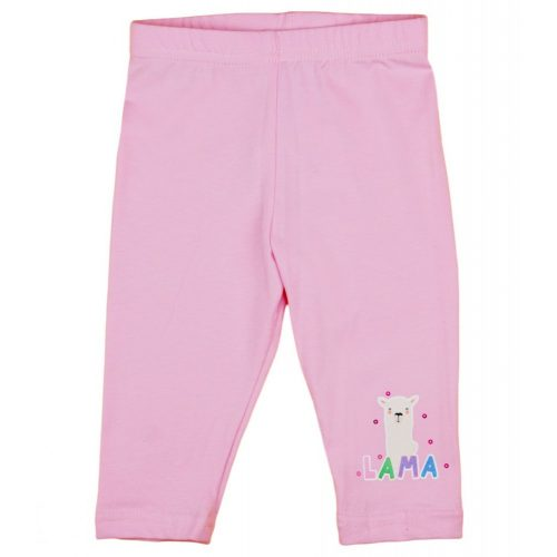 Láma mintás kislány elasztikus pamut nadrág