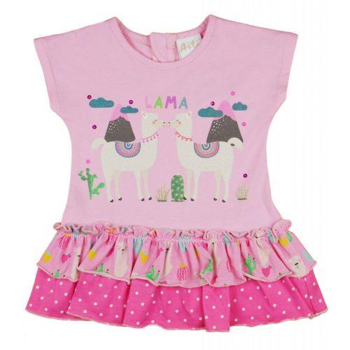 Láma mintás kislány bébi ujjatlan nyári ruha