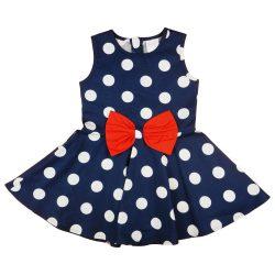 Pöttyös kislány ruha masnival