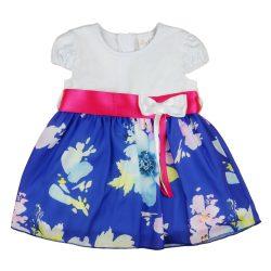 Kislány alkalmi ruha virágos muszlinnal