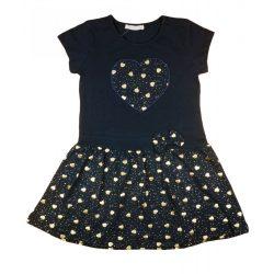 Kislány alkalmi arany szív mintás ruha (TUR)