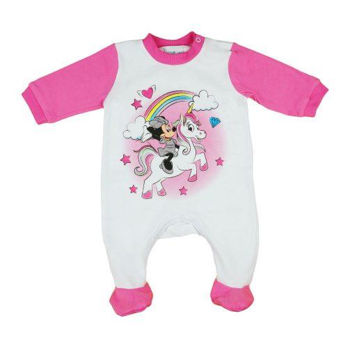 Disney Minnie csillámos unikornisos baba rugdalózó