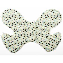 Háromszöges pillangó alakú babapárna