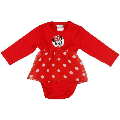Disney Minnie hosszú ujjú karácsonyi baba body| kombidressz piros