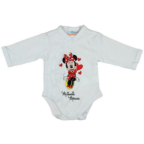 Disney Minnie szívecskés hosszú ujjú baba body fehér