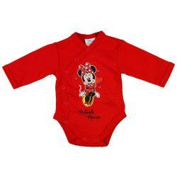 Disney Minnie szívecskés hosszú ujjú baba body