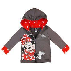 Disney Minnie belül bolyhos| kapucnis kardigán pöttyös mintával
