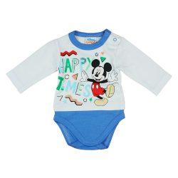 """Disney Mickey """"Happy times"""" hosszú ujjú baba body"""