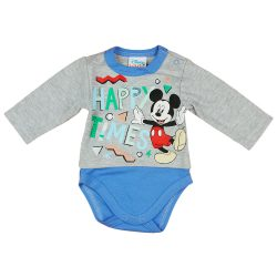 "Disney Mickey ""Happy times"" hosszú ujjú baba body"
