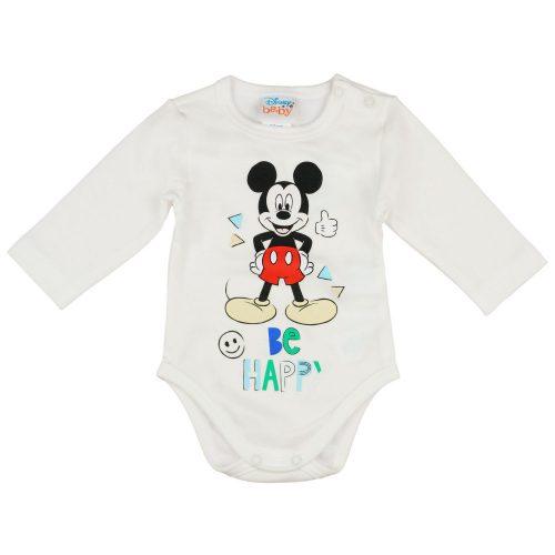 Disney Mickey hosszú ujjú baba body krém
