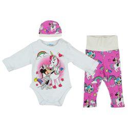 Disney Minnie és unikornis 3 részes baba szett