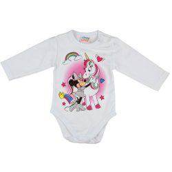 Disney Minnie és unikornis hosszú ujjú baba body