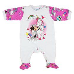 Disney Minnie és unikornis belül bolyhos rugdalózó