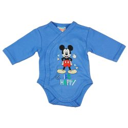 "Disney Mickey ""Be happy"" elöl patentos baba body"
