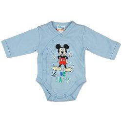"Disney Mickey ""Be happy"" elöl patentos baba body"