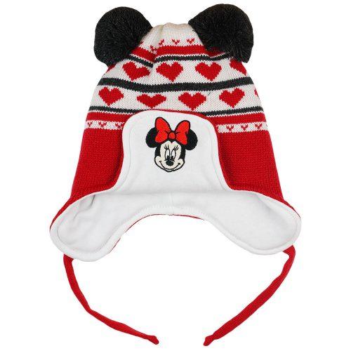 Disney Minnie szívecskés  kötött  bélelt  bojtos sapka