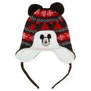 Disney Mickey kötött| bélelt| bojtos sapka