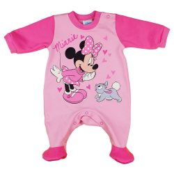 Disney Minnie nyuszis, belül bolyhos, hosszú ujjú rugdalózó